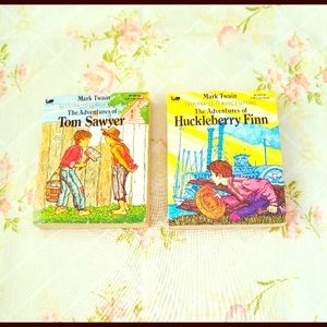 Tom Sawyer & Huckleberry Finn VTG Children's Books